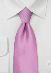 Solid Lilac Mens Tie in Long Length