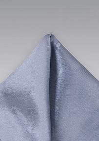 Solid Gray Mens Pocket Square