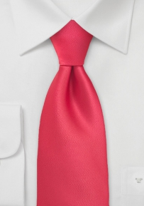 Bright Candy-Red Kids Length Tie