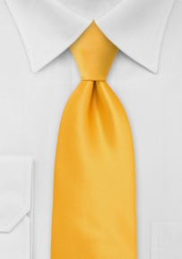Tangerine Yellow Tie Made for Kids