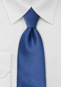 Cobalt Blue Mens Tie in Extra Long