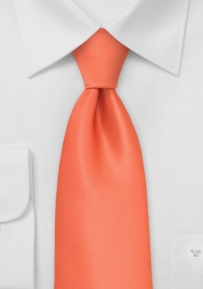 Solid Coral Orange Kids Tie