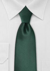 Solid Dark Hunter Green Tie in XXL