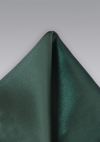 Solid Pocket Square in Dark Hunter Green
