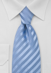 Elegant Cornflower Blue Necktie in Extra Long