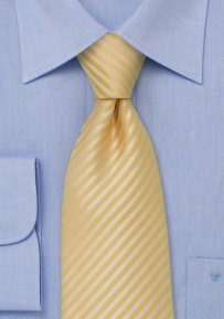 Modern Yellow Tie in XL Length