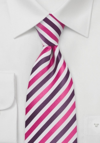 Trendy Tie in Pink, Purple, White