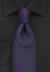 Modern Dark Purple Mens Tie