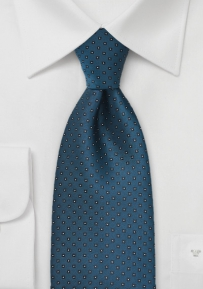 Traditionally Patterned Peacock Blue Tie