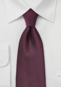 Patterned Burgundy Red Tie