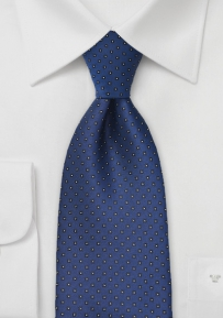 Pacific Blue Tie with Black Squares