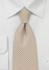 Mens XL Length Tie in Golden Tans