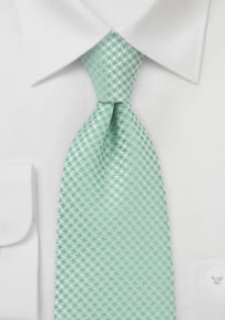 Extra Long Clover Green Tie