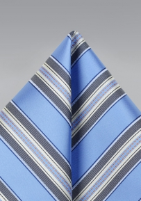 Striped Design Pocket Square in Periwinkle