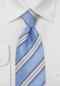 Periwinkle Blue Striped Tie
