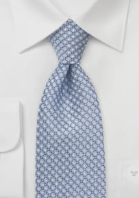 Diamond Patterned Tie in Soft Blue