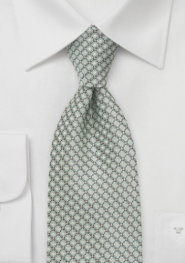 Diamond Patterned Boys Length Tie in Pistachio Green