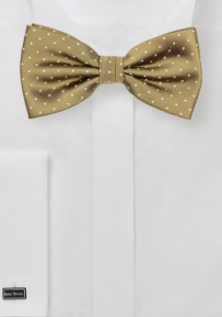 Polka Dot Bowtie in Buddha Gold