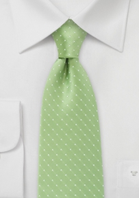 Polka Dot Tie in Soft Green