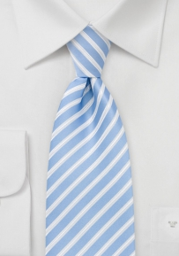 Summer Blue Striped Tie
