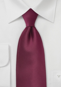Burgundy Red Tie Made in Long Length