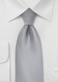 Elegant Solid Silver Necktie for Kids