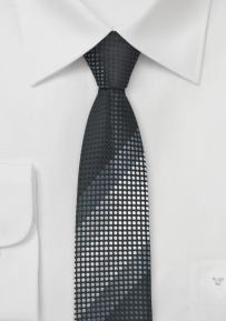 Uber Skinny Tie in Black and Grey