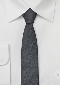Uber Skinny Tie in Charcoal