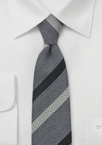 Charcoal and Gray Skinny Necktie