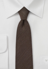 Trendy Skinny Tie in Espresso Brown