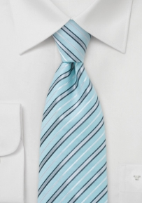 Grey and White Patterned Tie