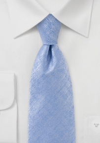 Heathered Tie in Sea Blue