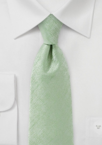 Solid Extra Long Tie in Light Cypress Green