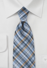 Mens Cool Plaid in Steel Blue