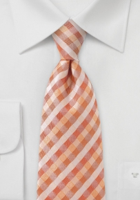 Designer Tie in Tropical Oranges