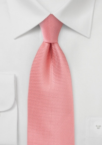 Designer Textured Tie in Coral