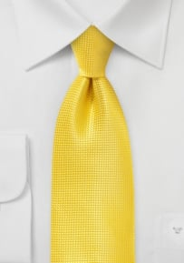 Mens Textured Tie in Proper Yellow