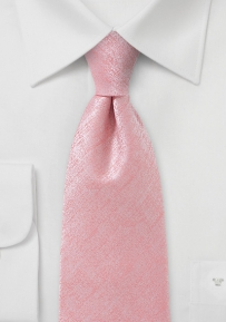 Kids Length Tie in Heathered Pink