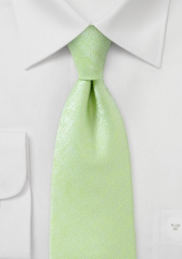 Mens XL Length Tie in Lime