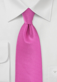 Vibrant Extra Long Tie in Paradise Pink