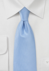 Solid Textured Tie in Blue Jay