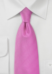 Bright Orchid Pink Necktie in XL Length