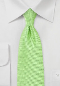 Solid Key Lime Green Tie