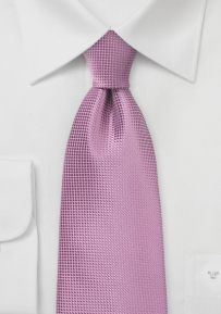 Trendy Solid Color Tie in Antique Orchid