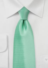 Monochromatic Green Tie in Winter Mint for Tall Men