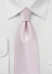 Elegant Solid Blush Hued Wedding Tie