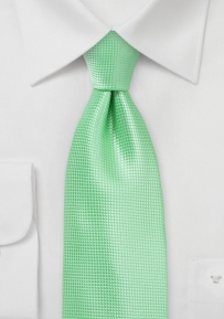 Summer Mint Hued XL Sized Necktie