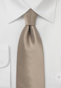 Solid Taupe Color Necktie with Texture