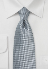 Trendy Designer Tie in Metallic Silver