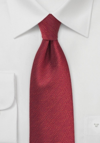 Autumn Herringbone Tie in Henna Red